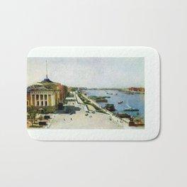 Saint Petersburg Russia Neva river and Admiralty Bath Mat