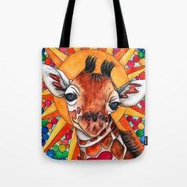 Golden Giraffe Tote Bag