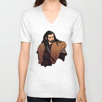 thorin V-neck T-shirts featuring Thorin by rdjpwns