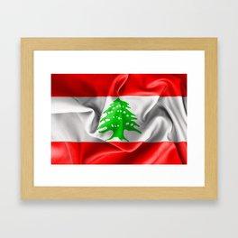 Lebanon Flag Framed Art Print