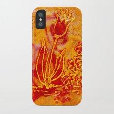Happy flower iPhone X Slim Case