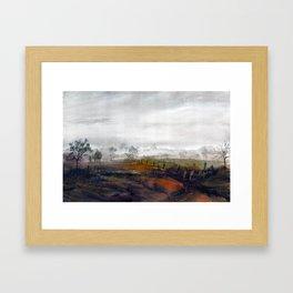 Misty meadow Framed Art Print