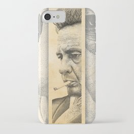 Johnny Cash Pointillism Drawing iPhone Case