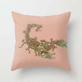 Scorpion Cactus Throw Pillow