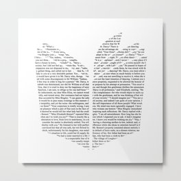 'Open Book' Cut Out Metal Print