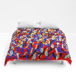 Abstract laberinto red blue Comforters