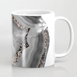Gray Agate Rose Gold Glitter Glam #1 #gem #decor #art #society6 Coffee Mug