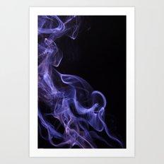 veil of smoke Art Print