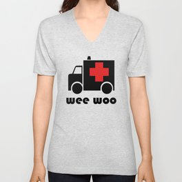 Wee Woo Ambulance Unisex V-Neck