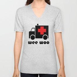 Wee Woo Ambulance Unisex V-Neck