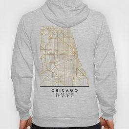 CHICAGO ILLINOIS CITY STREET MAP ART Hoody
