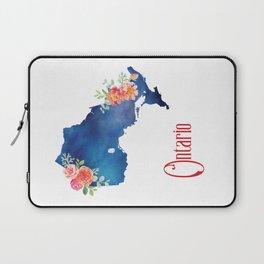 Ontario - Floral Watercolor Laptop Sleeve
