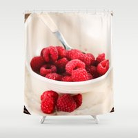 breakfast Shower Curtains featuring Breakfast by Donna M Condida