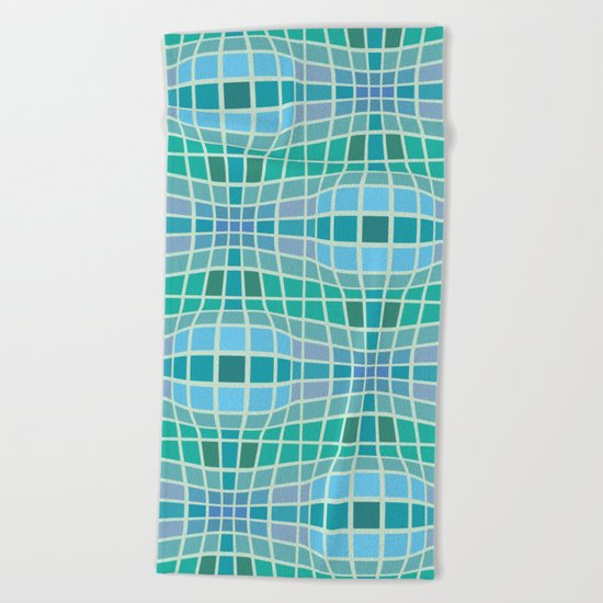 Protrusion and retraction - Optical Game 18 Beach Towel
