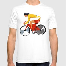Solo Track Cyclist White SMALL Mens Fitted Tee