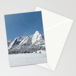 Snowy Flatirons Stationery Cards