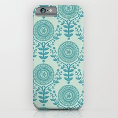 Paper Doily (BLUE) Slim Case iPhone 6s
