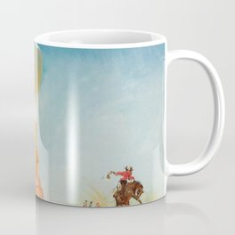 Pin Up Girl and Beer Vintage Art Coffee Mug