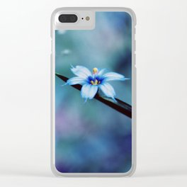 Blue on blue Flower Photography, Symphony in Blue Clear iPhone Case