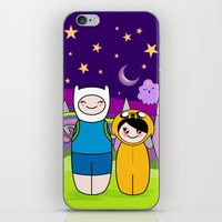 finn and jake iPhone & iPod Skins featuring Kokeshis Finn&Jake by Pendientera