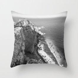 Cliffs along Cape Point, South Africa Throw Pillow