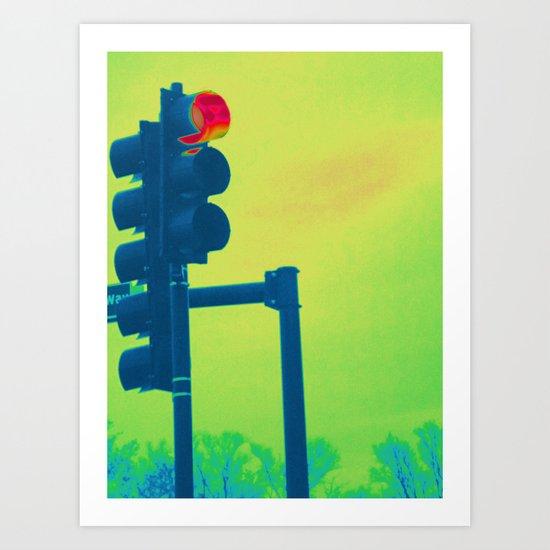 Stop Light Art Print