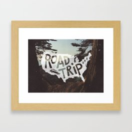 Road Trip USA - big sur Framed Art Print