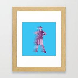 Purple Fashion Parade Framed Art Print