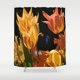 Orange and Yellow Shower Curtain
