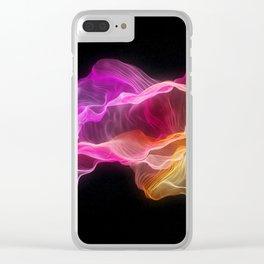 Rainbow satin Clear iPhone Case