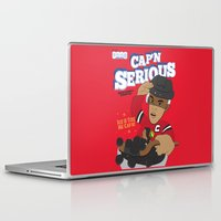 blackhawks Laptop & iPad Skins featuring Cap'n Serious  by Hawk Tawk TV