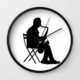 Saxaphone Silhouette Wall Clock
