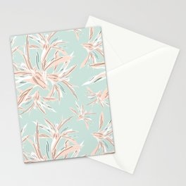 Hawaii style botanical leaves collection in pastel Stationery Cards