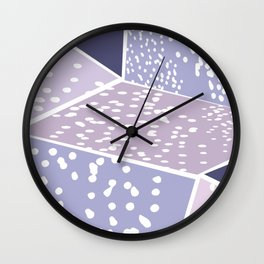 Purple Rooms Wall Clock