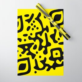 QR Clothes Yellow - Accessories Wrapping Paper