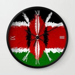 Extruded Flag of Kenya Wall Clock