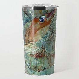 Watercolor Shrimp Travel Mug