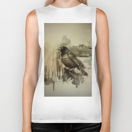 Call Of The Grackle Biker Tank