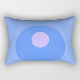 Blue Circle Loop Hole Minimal Rectangular Pillow