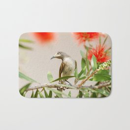 Australian Brown Honeyeater Bird. Bath Mat