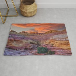 Sunset 0094 - Valley of Fire State Park, Nevada Rug