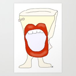 Potty mouth  Art Print