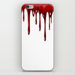 Blood Dripping White iPhone Skin