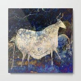 Lascaux Cave Cow II Metal Print