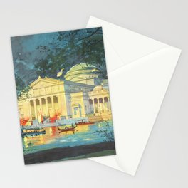 Lagoon at Night; Palace of Fine Arts in Chicago 1893 Stationery Cards