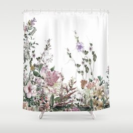 Vintage Field Flowers Shower Curtain