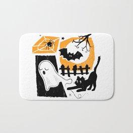 Beware of the Cat on Halloween Bath Mat