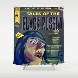 """""""Tales of the Black Russian"""" Book Cover Shower Curtain"""