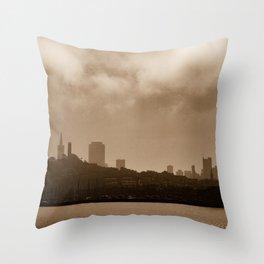 sepia of San Francisco Throw Pillow