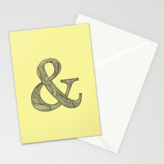 Yellow Ampersand Stationery Cards